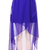 High Waist Chiffon Full-length Skirt Dark Blue - Sheinside.com