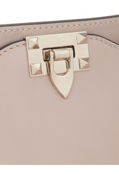 Valentino|The Rockstud medium leather trapeze bag|NET-A-PORTER.COM