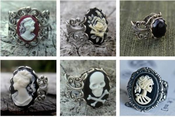 jewels ring dark black
