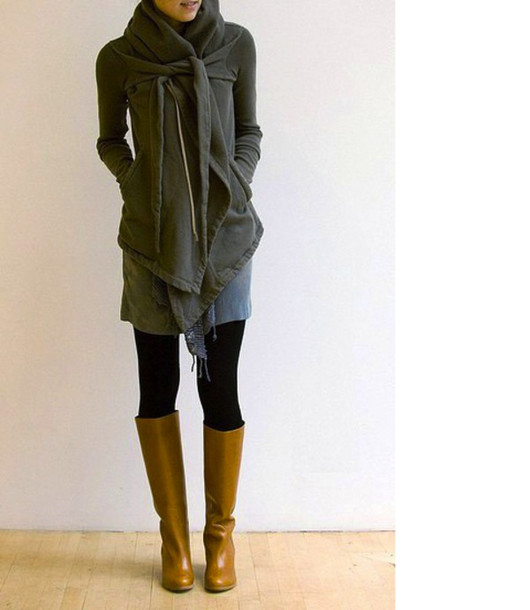 jacket clothes wrap jacket wrap sweater wrap sweater olive green scarf