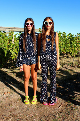 pants blogger blogger style stars star print lenni lenni the label babe twin twin fashion twin style twosie suit