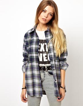 ASOS   ASOS RECLAIMED Vintage Look Bleached Check Shirt at ASOS