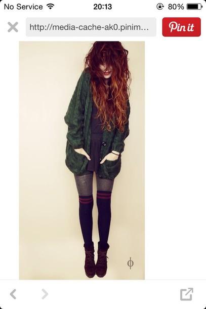 shoes boots vintage grunge heeled lace up cardigan socks sweater coat
