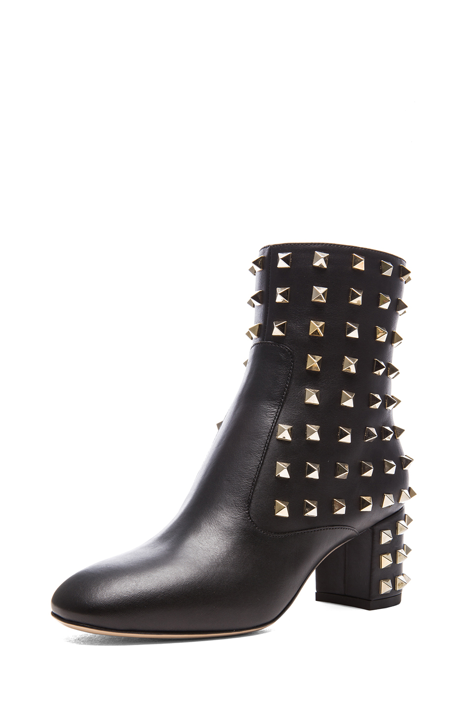 Valentino|Rockstud Leather Boots T.55 in Black