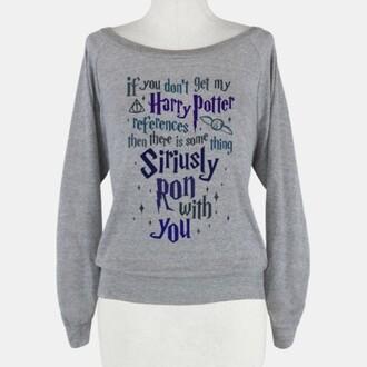sweater harry potter harry ron weasley