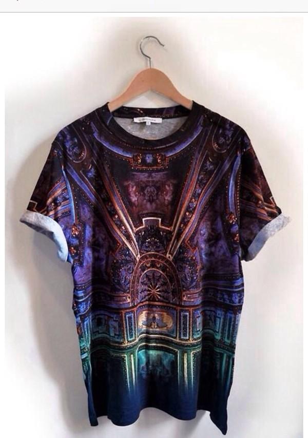 t-shirt print top tshirt graphic purple