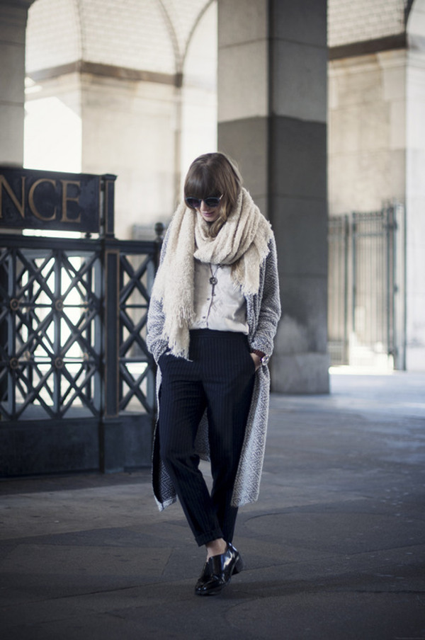 just another me pants sweater blouse shoes scarf jewels sunglasses