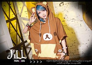 Lolita Japan Cartoon Fantasy Hazelnut Mille Feuille Rilakkuma Hoodie Poncho B   eBay