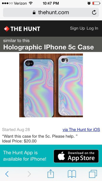 phone cover holographic iphone case