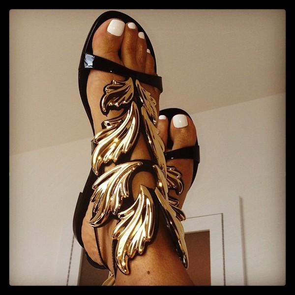 shoes sandals gold kanye west blouse hat Gold low heel sandals black black shoes sandals