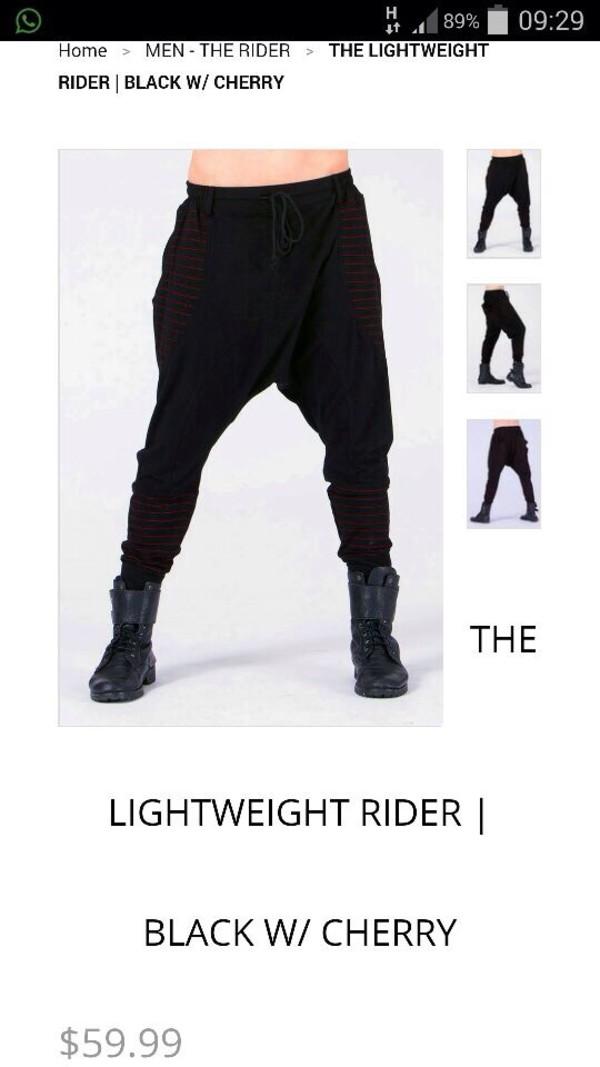 black lightweight menswear sarouel pants menswear