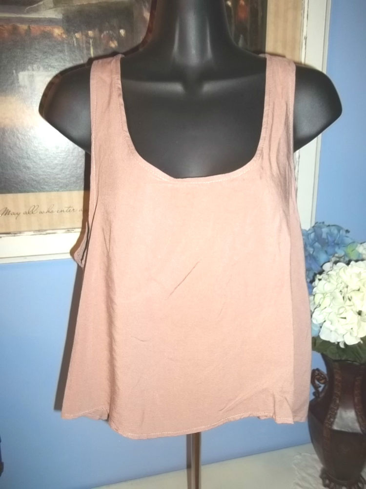 Mono B Pink Medium Swing Open Back Heart Cut Out Tank Top | eBay