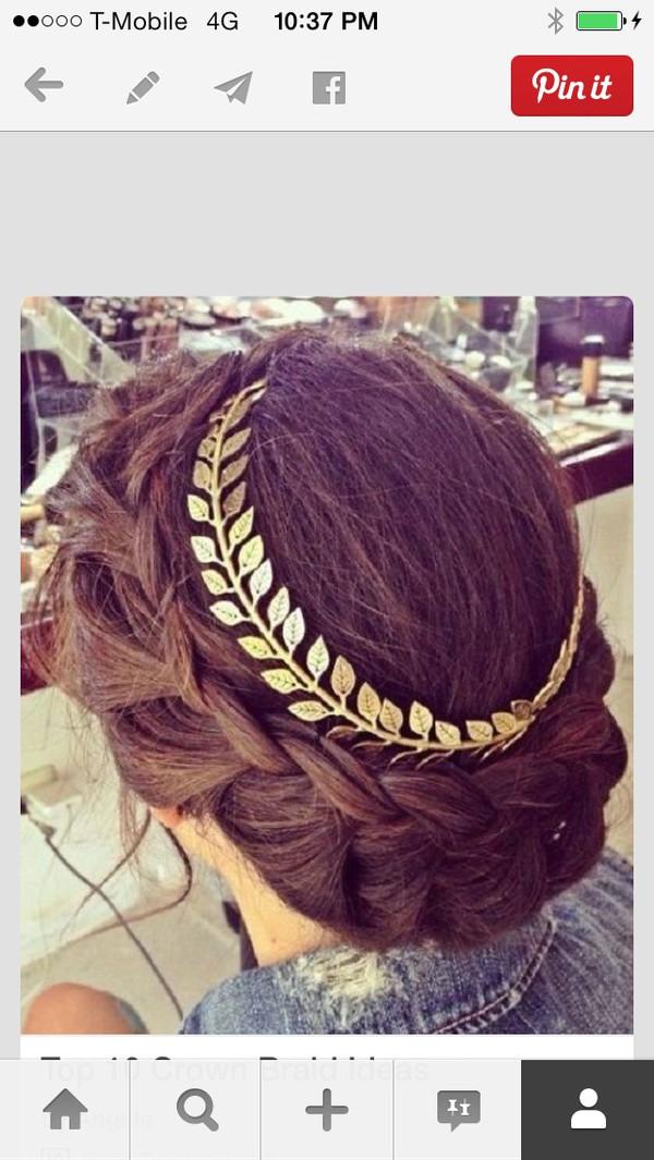 jewels gold laurel crown laurel leaf headband