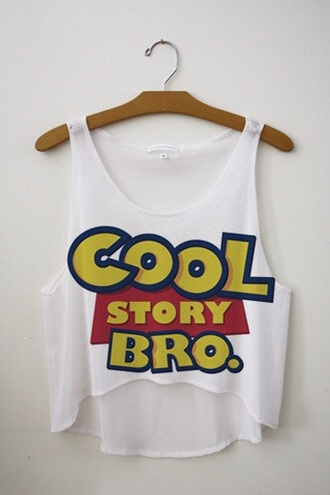 tank top white cool story bro toy story