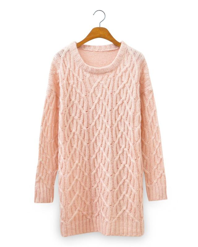 Light Pink Sweet Loose Jumper, the latest street style collection