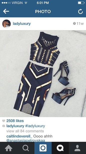 dress skirt crop tops