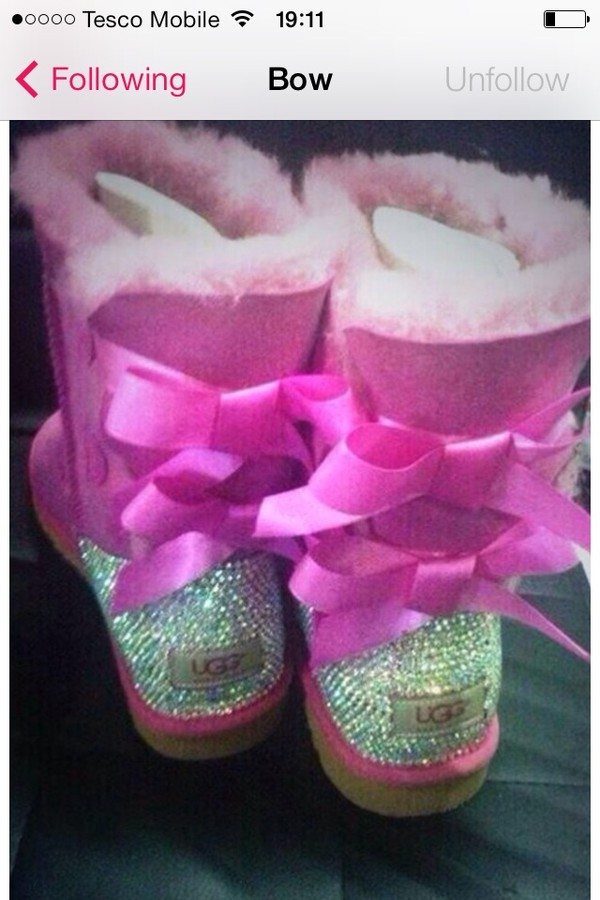shoes sparkly pink uggs