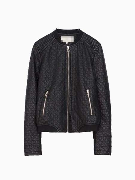 Bomber Jacket In Leather | Choies