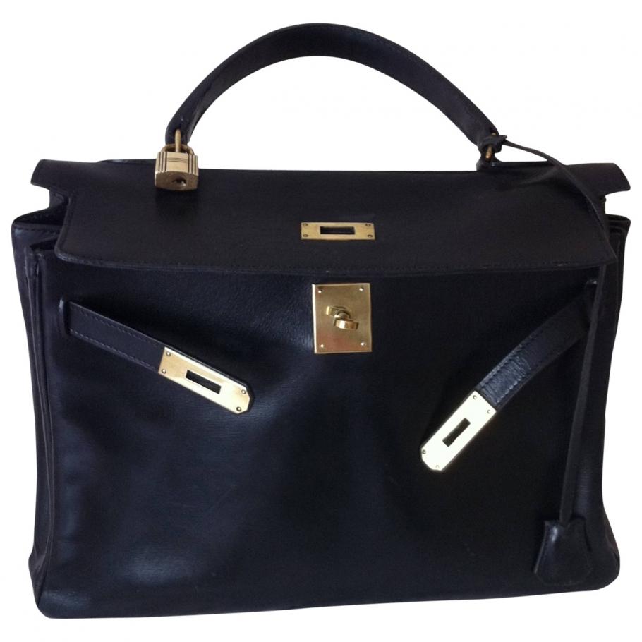 Vintage kelly 30 HERMÈS Black in Leather All seasons - 755339
