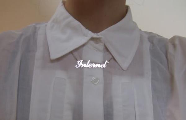 jewels internet internet necklace necklace nameplate nameplate necklace