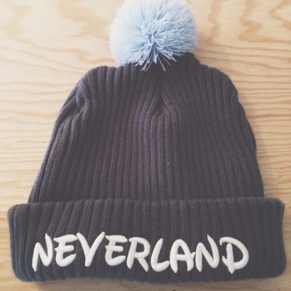 belt bonnet pom pom beanie hat beanie neverland disney peter pan blue peterpan disney hat