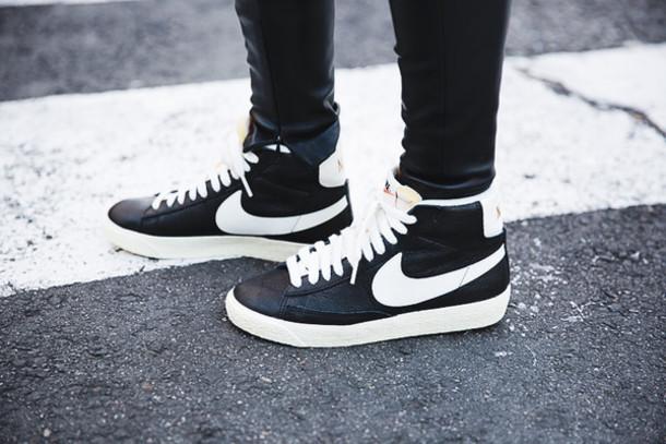 shoes black leather blazer sneakers women