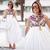 ROMWE | Tribal Print Diamante White Longling Dress, The Latest Street Fashion