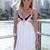 White Sequin Dress - White & Black Sequin Embellished | UsTrendy