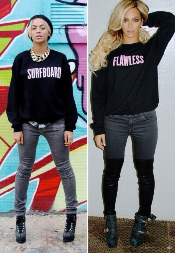 sweater beyonce drunk in love flawless shirt surf cute cute sweaters jeans