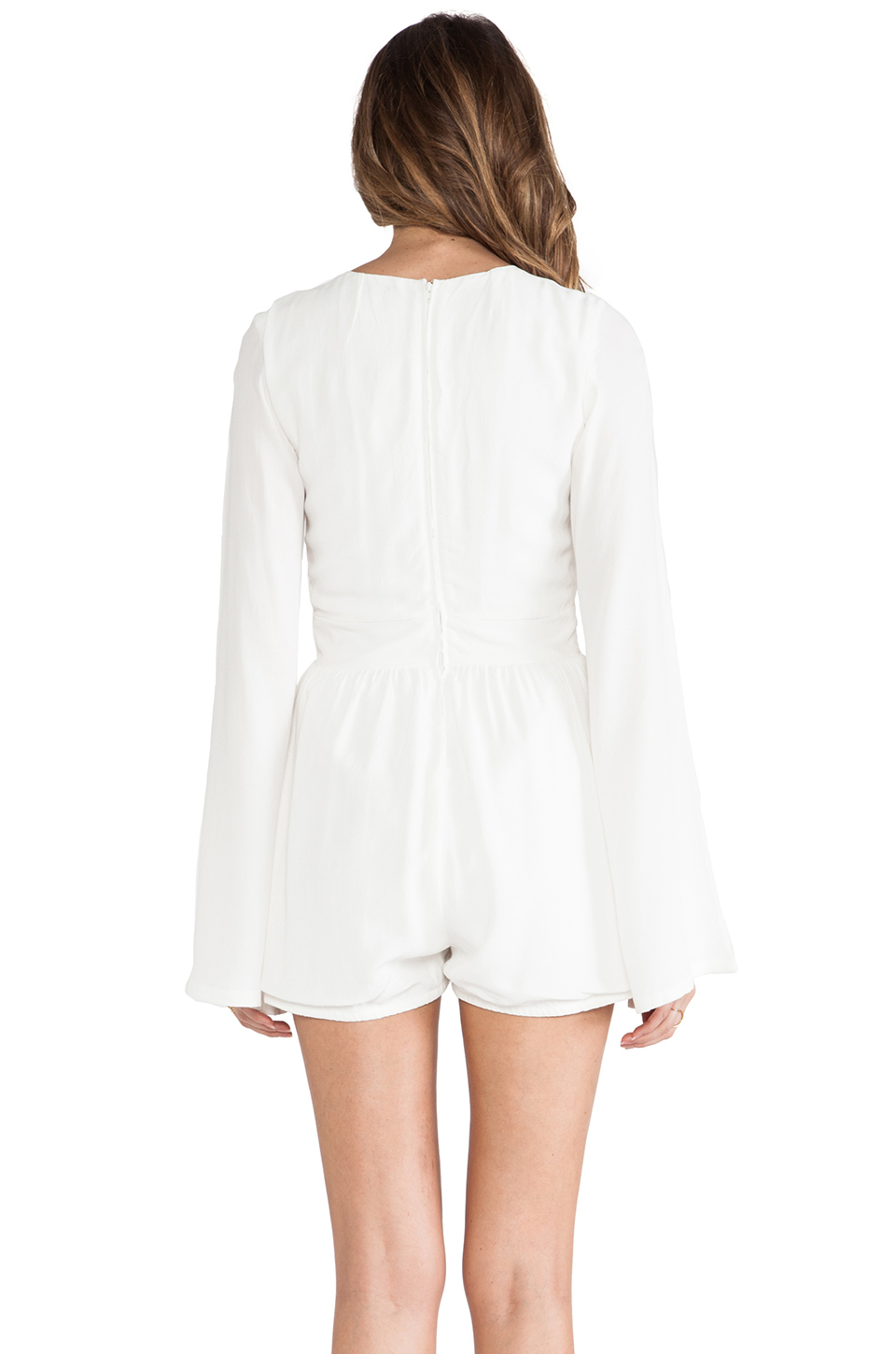 MINKPINK Follow Me To Heaven Playsuit in White   REVOLVE