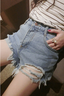 Aliexpress.com : Buy free shipping New in 2014 vintage shorts women summer beach denim cute blue high waisted short pants  from Reliable new menu suppliers on Dora Sweet Shop