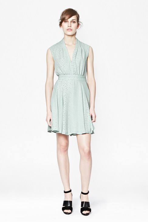 Memphis Spray V-Neck Dress - Dresses - French Connection Usa