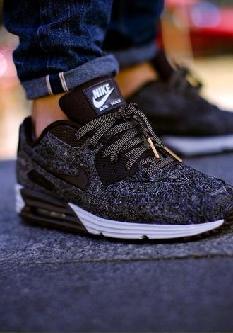 shoes nike nike running shoes nike air max 90 black sneakers low top sneakers nike shoes sauce wet trill stud feme kehlani parrish air max