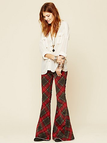 Free People  Printed Cord Super Flare at Free People Clothing Boutique