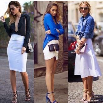 shoes kenza blue heels ysl sandales skirt