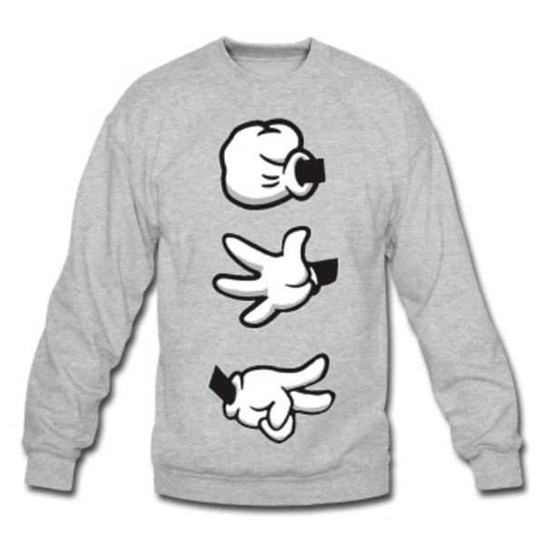 sweater mickey mouse hands jumper