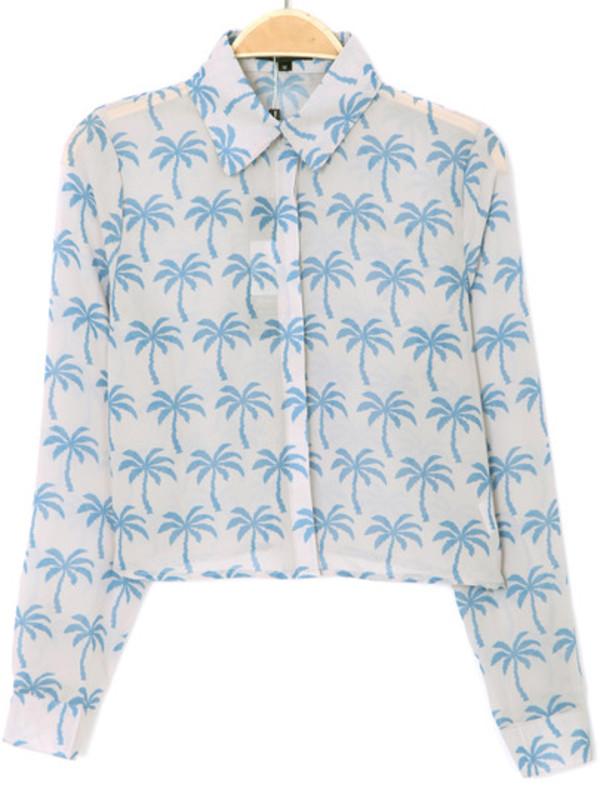 blouse palmier palmiers palm tree print palm tree palm tree print palm tree print palms tropical