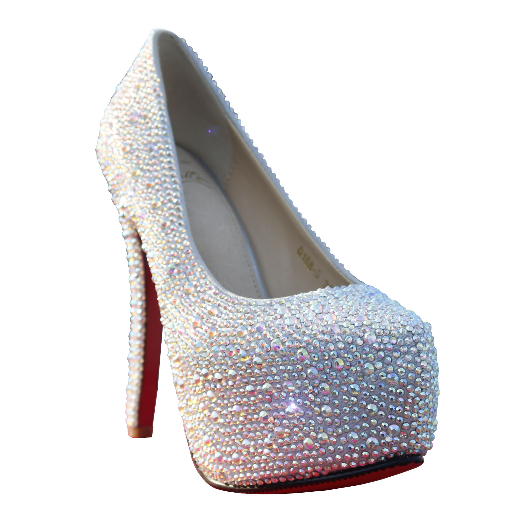 Free Shipping 11/14cm Fashion Lady Sparkly Upper Stiletto Heels Rhinestone Shoes Crystal Shoes Wedding Shoes Platform Pumps-inPumps from Shoes on Aliexpress.com