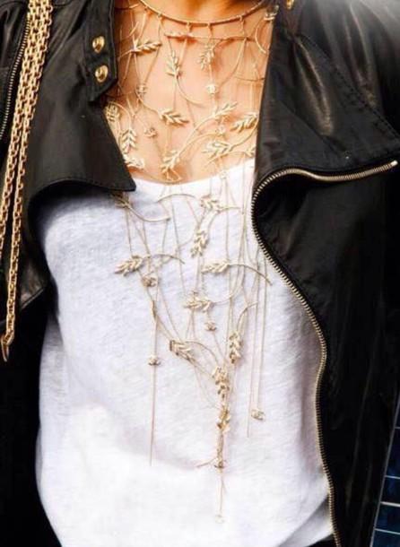 jewels ivy leaf necklace