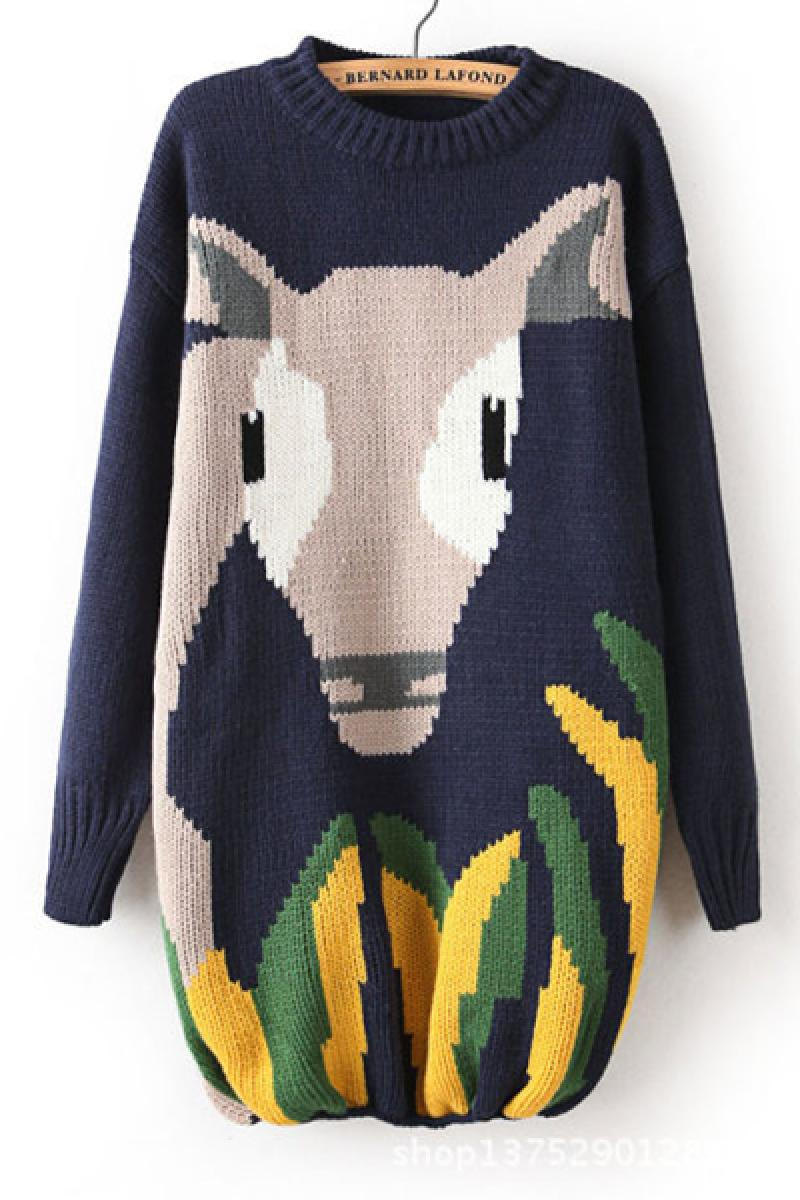 2013 Winter New Section Cartoon Long Section Thickened Sweater,Cheap in Wendybox.com