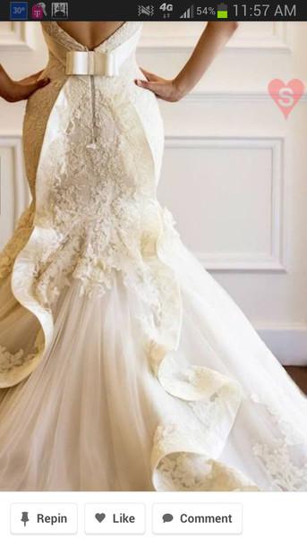 dress wedding dress lace dress belt mermaid wedding dress gorgeous dress texture wedding dress lace ivory dress