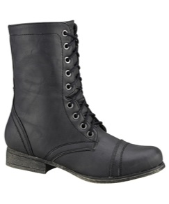 MADDEN GIRL Juniors' Gamer Military Boots, Black | BobStores.com