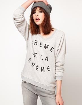 Zoe Karssen   Zoe Karssen Creme De La Creme Sweater at ASOS