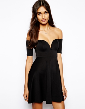 Oh My Love | Oh My Love Scuba Off Shoulder Skater Dress at ASOS