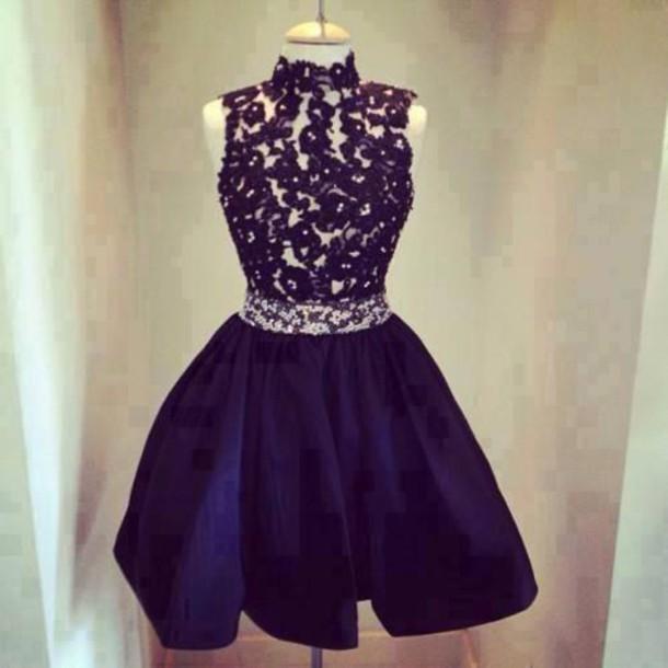 dress lace dress navy