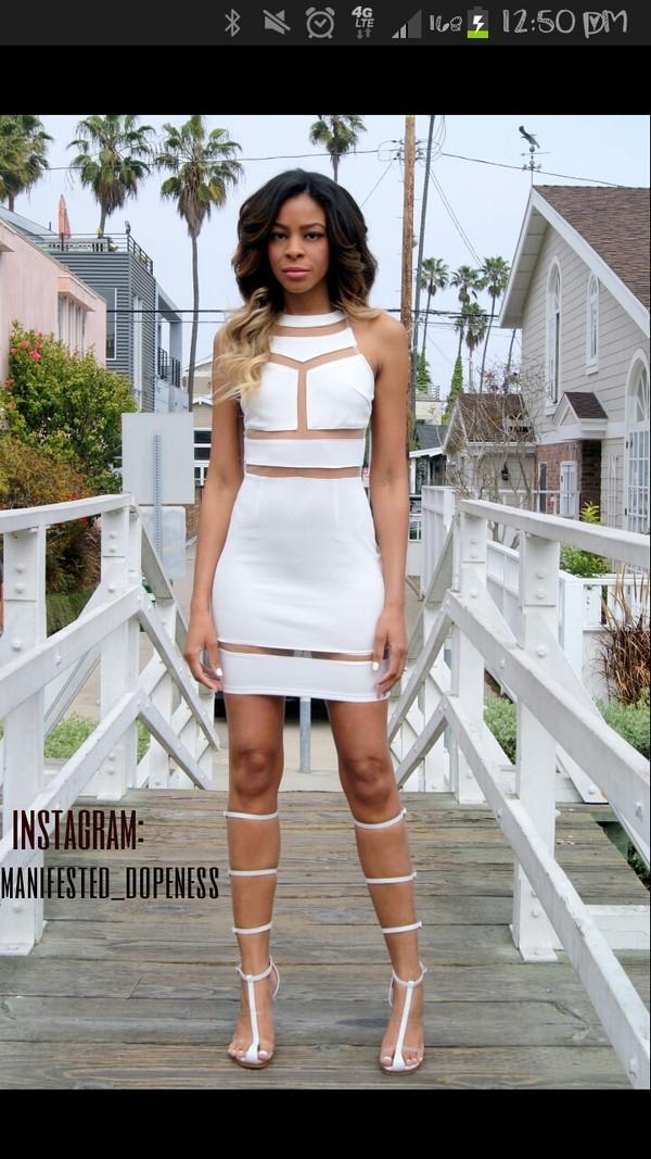 dress white dress mesh shorts shoes