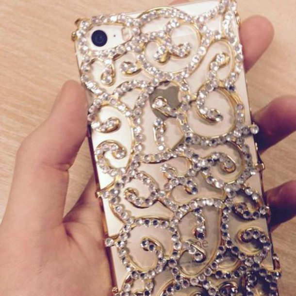 phone cover rhinestones phone cover bling vine galaxy s5 phone cover