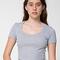 Cotton spandex jersey crop tee   american apparel