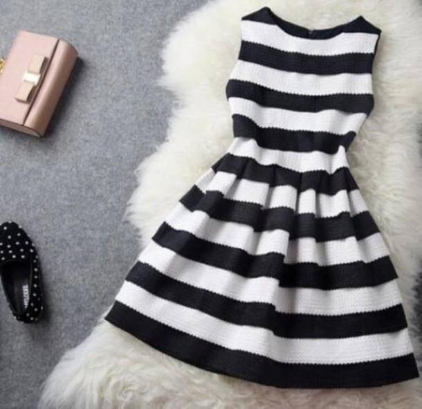 dress black dress white dress striped dress