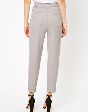 ASOS | ASOS High Waist Peg Trousers at ASOS